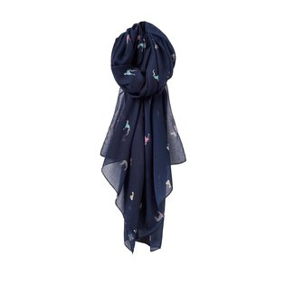 Joules Joules Wensley Printed Scarf - Navy Dogs