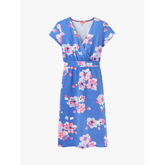 Joules Joules Jude Jersey Wrap Dress Blue Floral