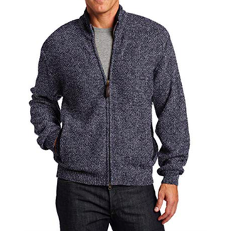 Pendleton Pendleton Men's Shetland Zip Front Cardigan BlueHthr MD
