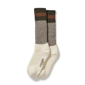 Filson Filson 1970's Logger Thermal Socks - Green/Brown