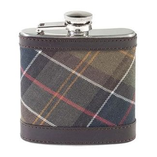Barbour Tartan Hip Flask