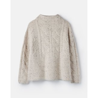 Joules Joules Women's Joyce Cable Knit Jumper - Cream Flecks