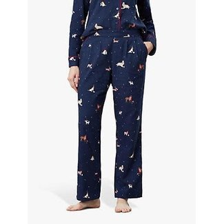 Joules Joules Women's Snooze Pajama Bottoms - Xmas Dogs