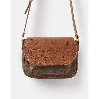 Joules Joules Darby Tweed Saddle Purse, Hardy Tweed
