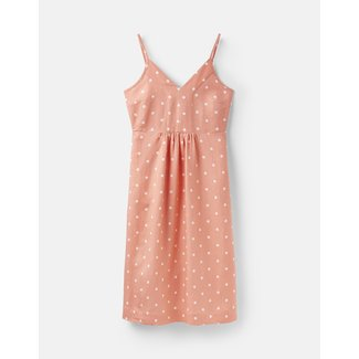 Joules Joules Zoey V-Neck Strappy Dress Orange Spot