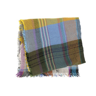 Joy Susan Multi Plaid Scarf - Periwinkle