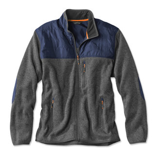 Orvis Orvis Men's Big Sky Full-Zip Fleece Jacket - Gray/Blue