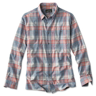 Orvis Orvis Men's Flat Creek Tech Flannel Shirt - Light Blue