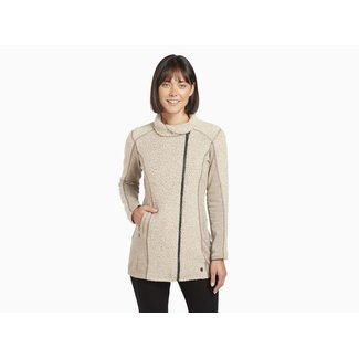 Kuhl Kuhl Women's Kozet Long Fleece Jacket - Oatmeal