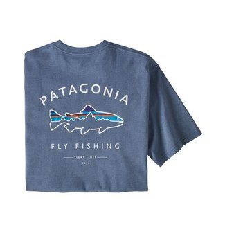 Patagonia Patagonia Men's Framed Fitz Roy Trout Responsibili-Tee - Woolly Blue