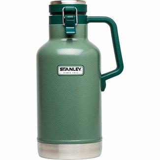 Stanley Stanley Classic Vacuum Growler: Hammertone Green, 64oz