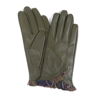 Barbour Women's Glenn Leather Gloves - Olive/Classic