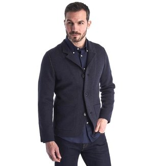 Barbour Barbour Men's Sudeley Knitted Blazer - Navy