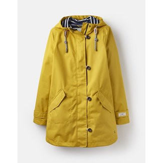 Joules Joules Coast Waterproof Mid Rain Jacket - Antique Gold