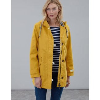 Joules Joules Coast Waterproof Mid Rain Jacket - Antique Gold