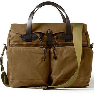 Filson Filson 24 Hour Tin Briefcase Dark Tan
