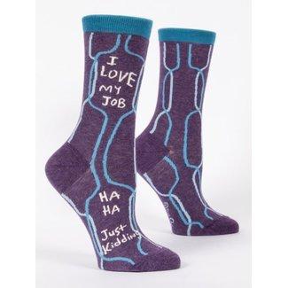 Blue Q Blue Q Women's Crew Socks - I Love My Job
