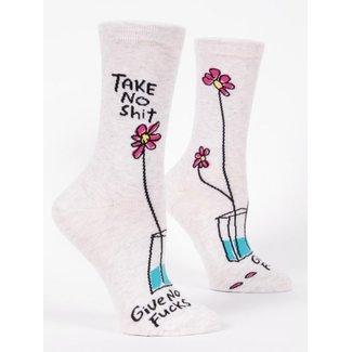 Blue Q Blue Q Women's Crew Socks - Take No Shit