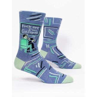 Blue Q Blue Q Men's Crew Socks - Fuck Off I'm Gaming