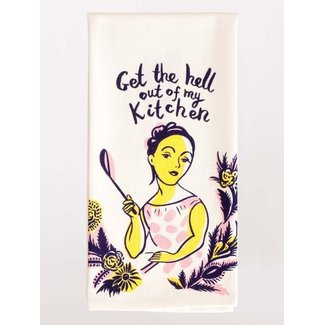 Blue Q Blue Q Dish Towel - Get the Hell Out of My Kitchen