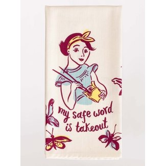 Blue Q Blue Q Dish Towel - My Safe Word Is Takeout