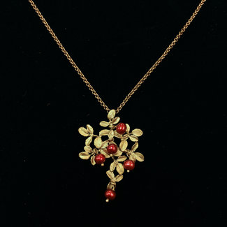 Michael Michaud Design Michael Michaud Cranberry Pendant on Snake Chain Necklace