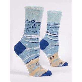 Blue Q Blue Q Women's Crew Socks - The Ocean Just Gets Me