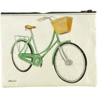 Blue Q Blue Q Zipper Pouch - Bicycles