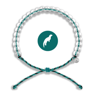 4Ocean 4Ocean Beaded Bracelet Sea Otter - Black/Teal