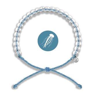4Ocean 4Ocean Beaded Bracelet Jellyfish - Periwinkle Blue