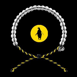 4Ocean 4Ocean Beaded Bracelet Penguin - Yellow/Black