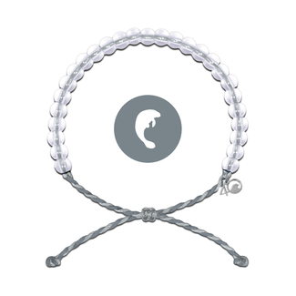 4Ocean 4Ocean Bracelet Manatee - Dark Grey/Light Grey
