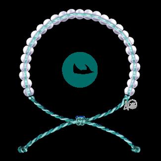 4Ocean 4Ocean Bracelet Manta Ray - Aqua/White