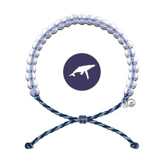 4Ocean 4Ocean Beaded Bracelet Whale - Light Blue/Navy