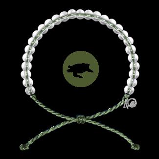 4Ocean 4Ocean Bracelet Leatherbacks - Kale Green
