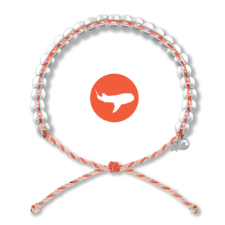 4Ocean 4Ocean Beaded Bracelet Whale Shark - Orange/Tan