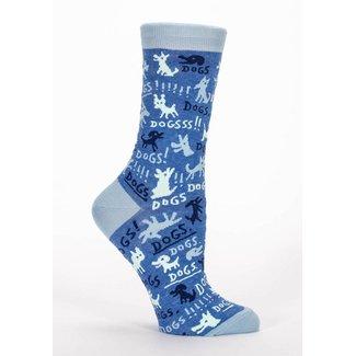 Blue Q Blue Q Women's Crew Socks - Dogs!