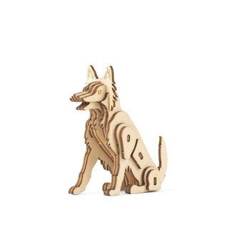 Kikkerland 3D Wooden Dog Puzzle