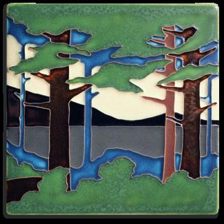 Motawi Tileworks Motawi Tile Pine Landscape - Valley (Summer) 8x8