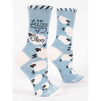 Blue Q Blue Q Women's Crew Socks - In Loving Memory Of Sleep