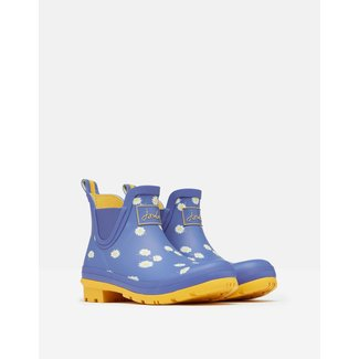 Joules Joules Wellibobs Short Printed Rain Boots Blue Daisy