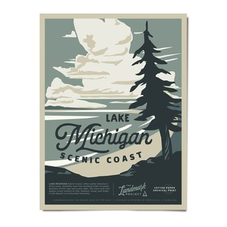 The Landmark Project The Landmark Project Lake Michigan Poster