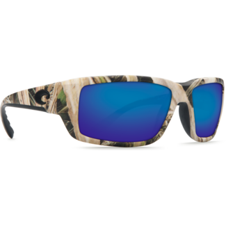 Costa Fantail  Mossy Oak Shadow Grass Blades Camo Frame with Blue Mirror Glass Lens 580G
