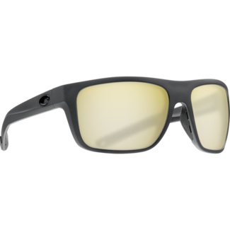 Costa Broadbill Matte Gray Frame with Sunrise Silver Mirror Plastic Lens 580P