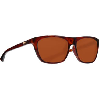 Costa Cheeca Shiny Rose Tortoise Frame with Copper Plastic Lens 580P