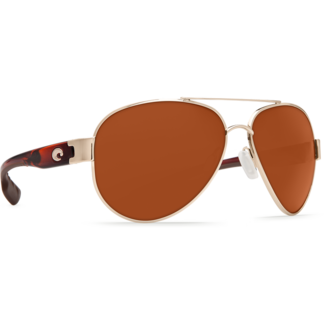 Costa C-Mates 2.00 South Point Rose Gold Frame, Light Tortoise Temples with Copper Plastic Lens 580P