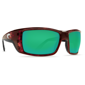 Costa Permit Tortoise Global Fit Frame with Green Mirror Plastic Lens 580P