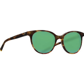 Costa Isla Tortoise Frame with Green Mirror Glass Lens 580G