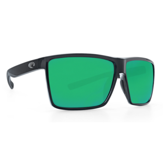 Costa Rincon Shiny Black Frame with Green Mirror Plastic Lens 580P