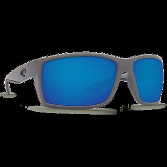 Costa Reefton Matte Gray Frame with Blue Mirror Glass Lens 580G